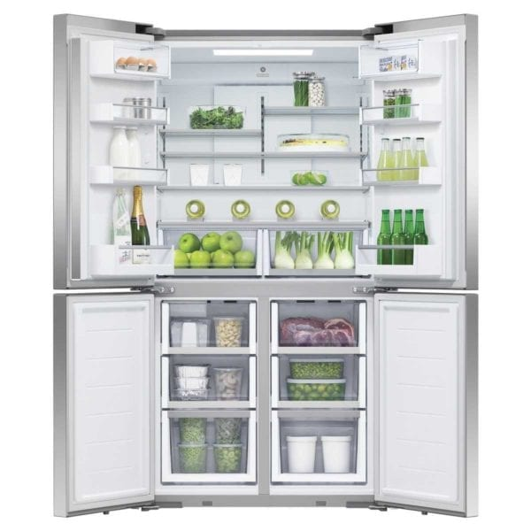 Fisher & Paykel French Door Fridge Quad Door 605L Ice & Water Stainless