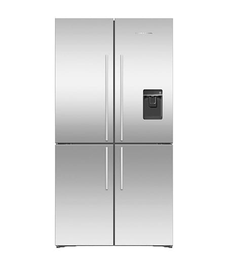 Fisher & Paykel French Door Fridge Quad Door 605L Ice & Water Stainless (Factory Second)