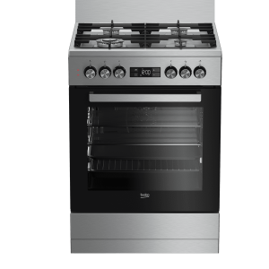 Beko 60cm Dual Fuel Freestanding Stainless Cooker - Factory Second | Sunshine Coast Washers and Fridges